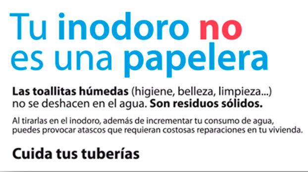 No tirar papeles al inodoro| Sevilla con los peques