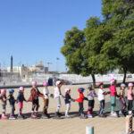 Se intenta crear la Cadena de patinadores mas larga del mundo | Sevilla con los peques