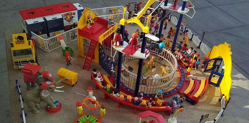 Playmarket exposición de playmobil y mercadillo, Diorama de circo | Sevilla con los peques