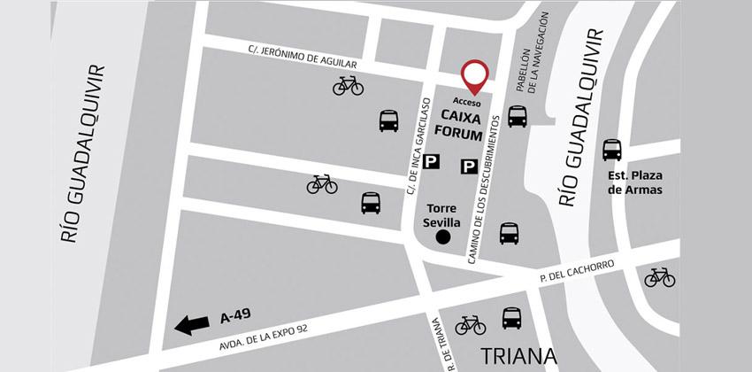 Mapa de CaixaForum Sevilla | Sevilla con los peques