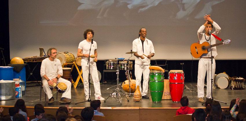 Percusión interactiva con Latidos en Lasedede | Sevilla con los peques