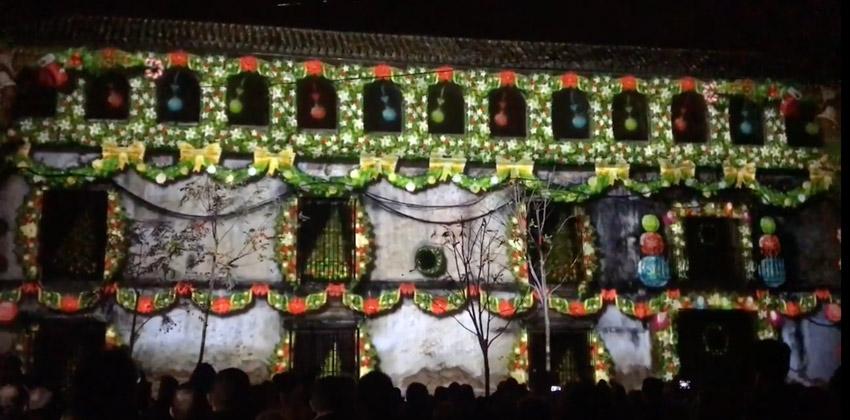 Mapping de Navidad en Utrera 00 |Sevilla con los peques