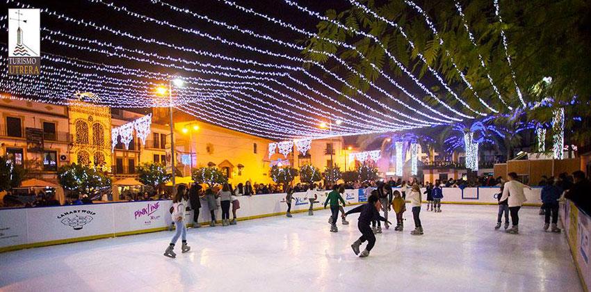 Navidad en Utrera pista de patinaje | Sevilla con los peques