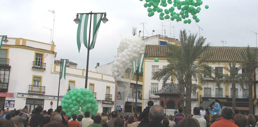 Paseo en bicicleta por el día de Andalucía en Utrera | Sevilla con los peques
