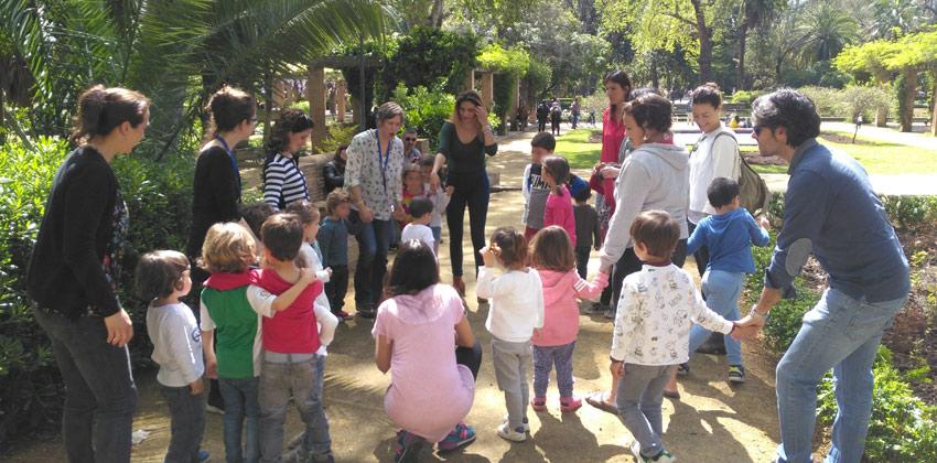 Actividades en Inglés para familias con niños en diferentes espacios de Sevilla en Parque de Mª Luisa 01 | Sevilla con los peques