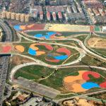 Vista aerea del Parque de Miraflores   Sevilla con los peques