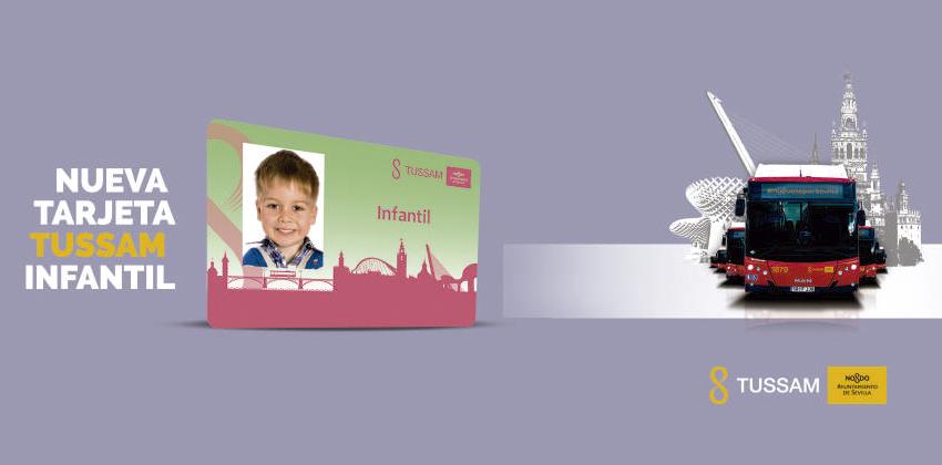 Nueva Tarjeta Infantil Tussam con las que los niños de Sevilla podrán viajar gratis | Sevilla con los peques